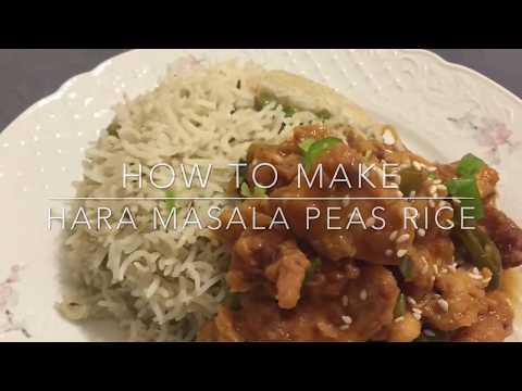 HARA Masala Peas Rice Recipe / Matar pilau recipe