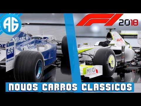 F1 2018 - BRAWN GP E WILLIAMS - NOVOS CARROS CLÁSSICOS ANUNCIADOS (Português-BR)