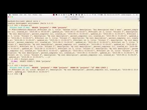 Using the Rails console to update and delete database records
