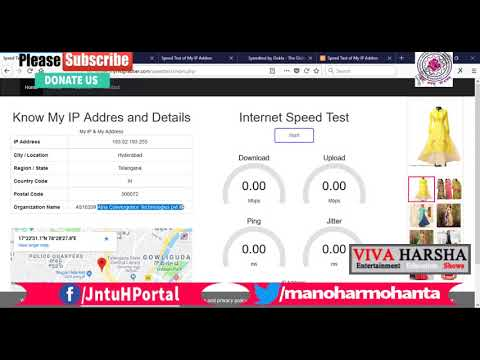 CSE Major Project Speed Test and My IP Address in PHP and JavaScript