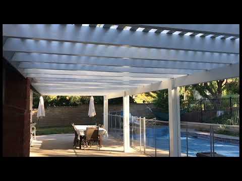 53' Long Alumawood Lattice patio cover!