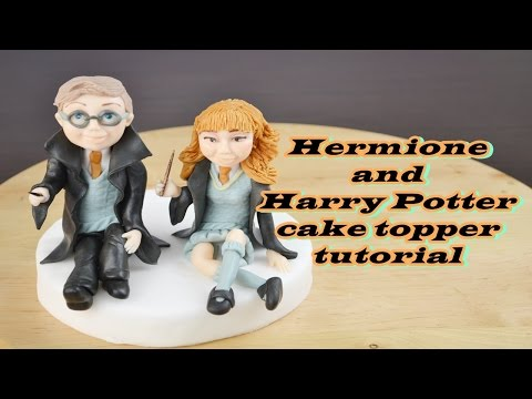HERMIONE and HARRY POTTER CAKE TOPPER FONDANT - TUTORIAL TORTA PASTA DI ZUCCHERO