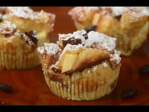 Bread Pudding Muffins Recipe Demonstration - Joyofbaking.com