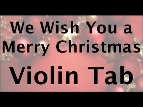 Learn we wish you a merry christmas on Violin - How to Play Tutorial