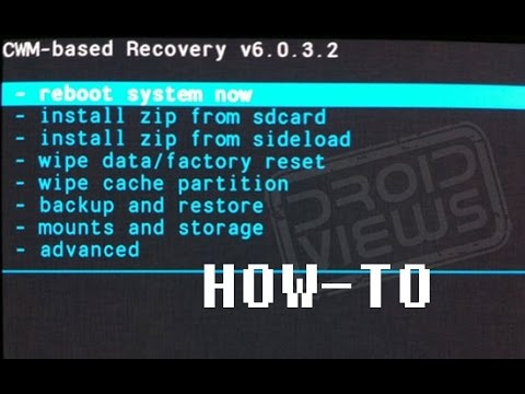 Flash a boot animation through CWM Recovery