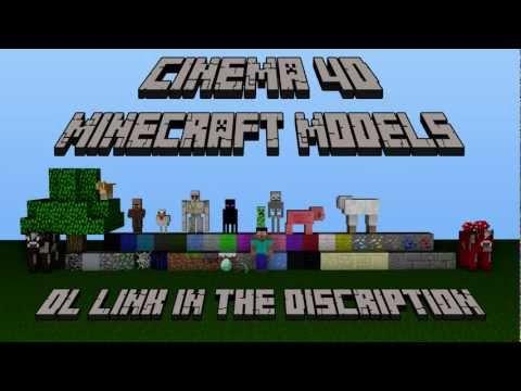 Cinema 4D Minecraft Models Giveaway!!!