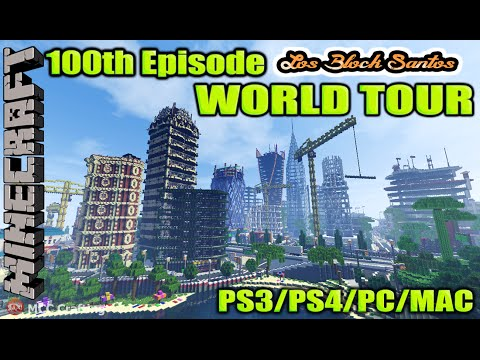 Minecraft 100 Ep Special LBS Biggest EPIC CITY Tour World Download Soon PS3/PS4/XBOX/PC