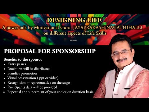 DESIGNING LIFE | FREE TALK ON LIFE SKILLS | PROPOSAL TO SPONSORS