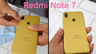 Redmi Note 7 Pro converted in IphoneXS Max apple lamination wrap skin