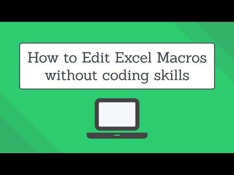 Edit Excel Macros without coding skills | Excel Macro