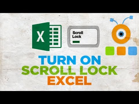 How to Turn On Scroll Lock in Excel | How to Enable Scroll Lock in Excel
