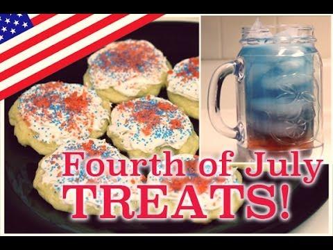 Fourth of July Treats (Pop Rocks Cookies + Patriotic Drink!) | ArtsyPaints
