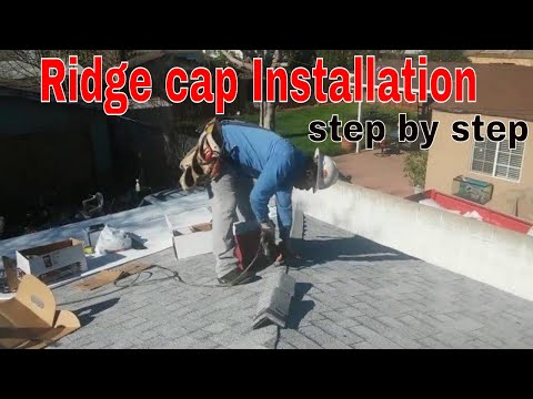 RIDGE CAP SHINGLES INSTALLATION...step by step explained in details...best video!