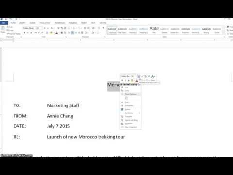 Word 2013 A 2