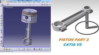 CATIA V5 tutorial #21- Part design - Piston #1 (Part 1) - The Most