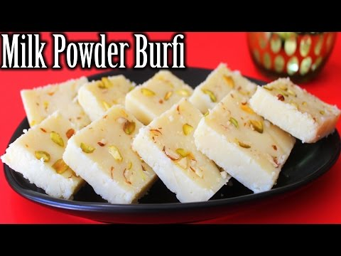 Milk Powder Burfi Recipe   Easy Burfi Recipe   Diwali Sweets Recipe   How to Make Milk Powder Burfi