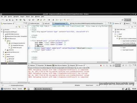 JSPs and Servlets Tutorial 06 - Passing More Parameters