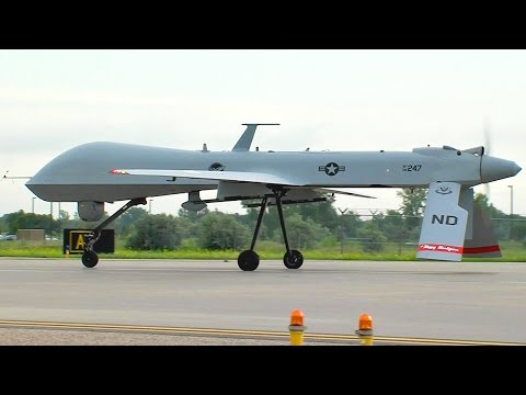 US MIlitary's Eye in the Sky: MQ-1 Predator Drone Takeoff and Land