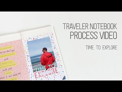 Traveler's Notebook Layout Process – Explore