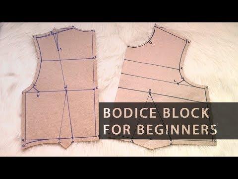 Pattern Drafting for Beginners – Easy Basic Bodice Block • Elewa