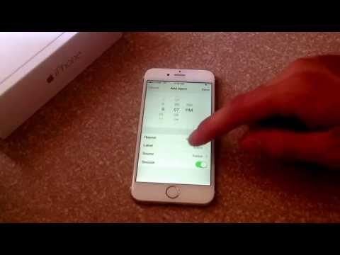 iPhone 6 / iPhone 6 plus - How to set up an alarm