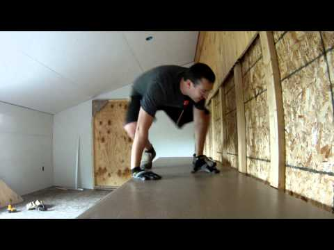 Building Shelves in the Storage Room - 93 - My DIY Garage Build HD Time Lapse