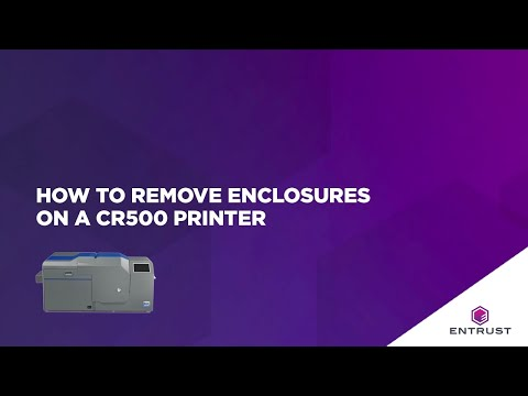 How To Remove Enclosures On A CR500 Printer