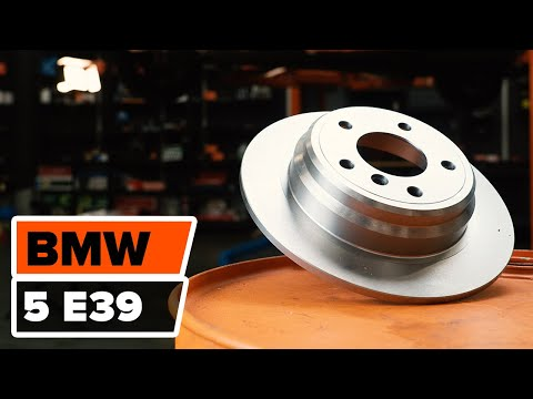 How to replace the front brake discs and front brake pads on BMW 5 E39 TUTORIAL | AUTODOC