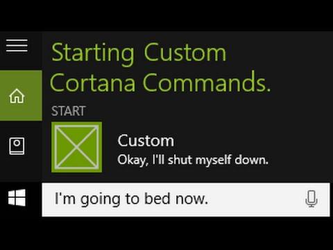How to Create Custom Cortana Commands (1/2)