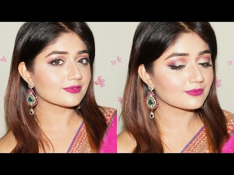 Festive Plum and Gold Makeup Tutorial with Nykaa | corallista