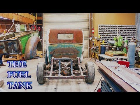 wrapping up the bed: strapping down the fuel tank (part 24) 1947 FORD pickup build