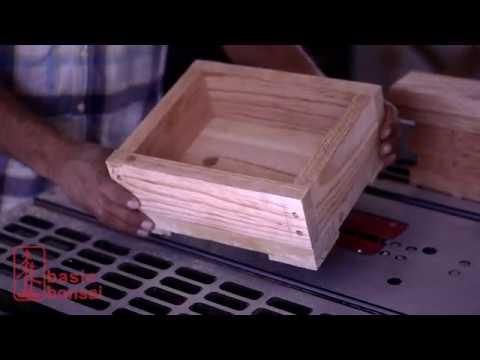 DIY easy wood bonsai pot