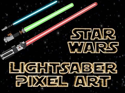 Minecraft Star-Wars Lightsaber Pixel Art