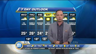 Warm but humid Wednesday on the way