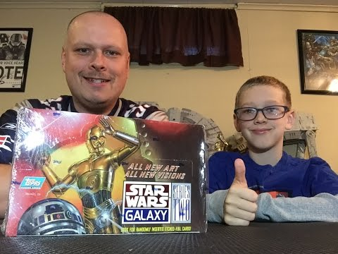 Star Wars Galaxy Series 2 Box Break and Review