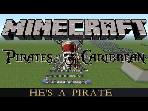 Pirates Of The Caribbean (He's A Pirate) Minecraft Xbox Note Block Song