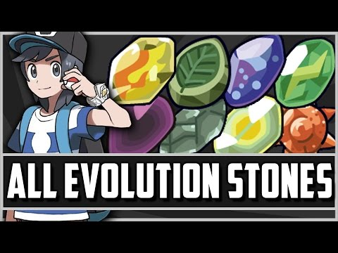How & Where to get - All Evolution Stone Locations in Pokemon Sun and Moon