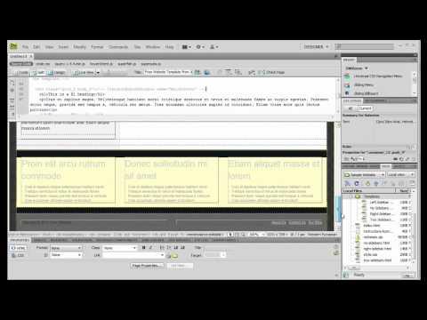 Creating New HTML Files from Dreamweaver Templates - JustDreamweaver.com
