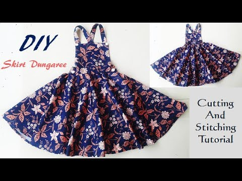 DIY Skirt Dungaree Dress For Baby Girl Cutting And Stitching Tutorial