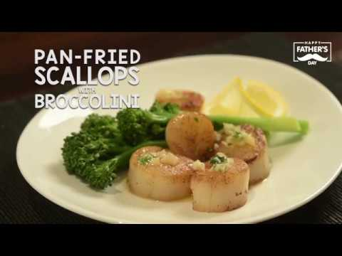 Fresh Bites - Pan-fried Scallops with Broccolini