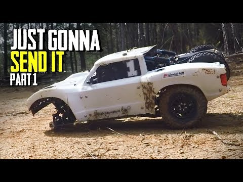 JUST GONNA SEND IT - Custom 4x4 RC Trophy Truck - GoPro Slowmo