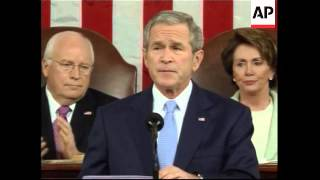 President Bush State Of The Union Speech On Health Immigration Energy