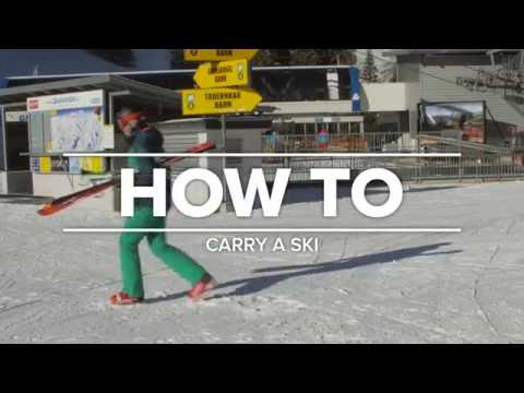 HOW TO carry a ski