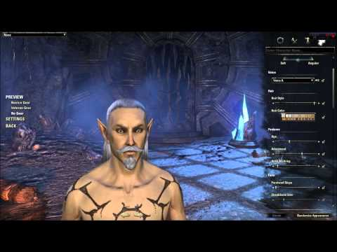 Elder Scrolls Online Character Creation - High Elf (In Depth ESO Character Customization Review)