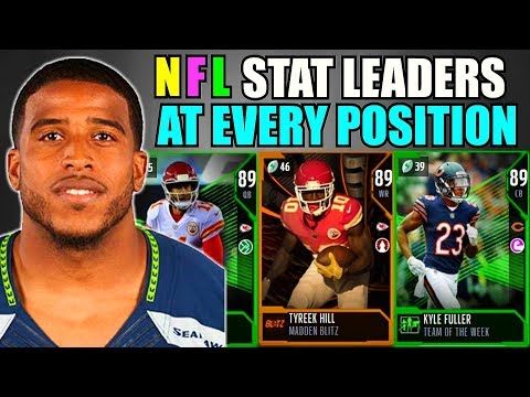 NFL STAT LEADERS AT EVERY POSITION! (WEEK 13) MADDEN 18 ULTIMATE TEAM SQUAD BUILDER