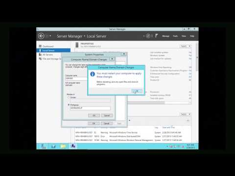 Installing Active Directory, DNS and DHCP to Create a Windows Server 2012 Domain Controller