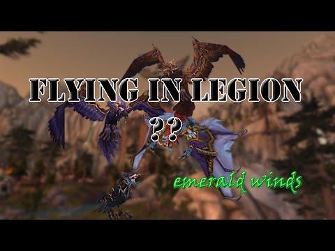 FLYING IN LEGION??│Emerald Winds Toy│World of Warcraft