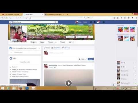 របៀប Change URL Facebook - How to Change URL Facebook