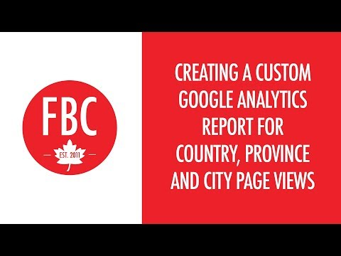 Create a Custom Google Analytics Report for Page Views By Country