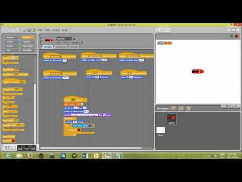 A RACING GAME WITH LEVELS part 1 in scratch